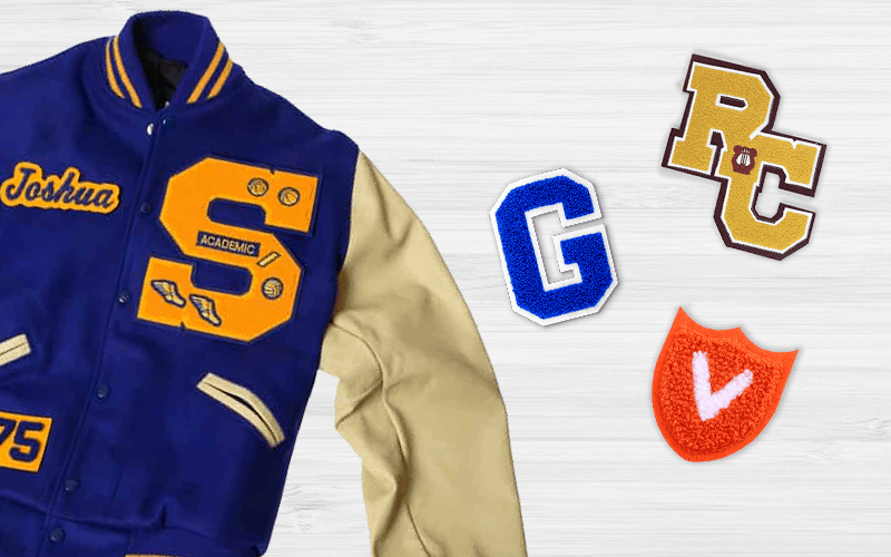 Custom Chenille Patches For Letterman Jackets