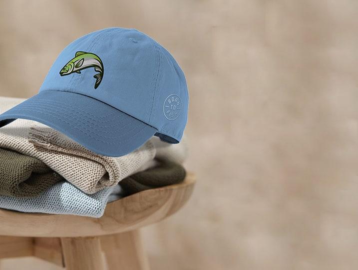 Custom Dad Hats Light Blue