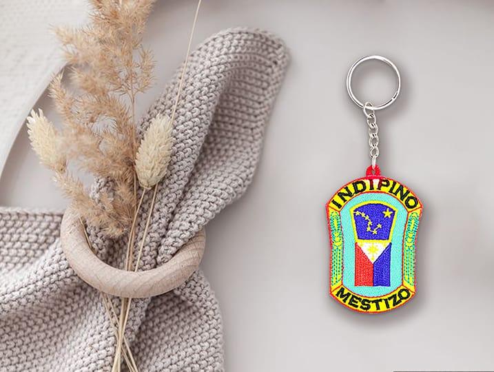 custom embroidered keychain logo