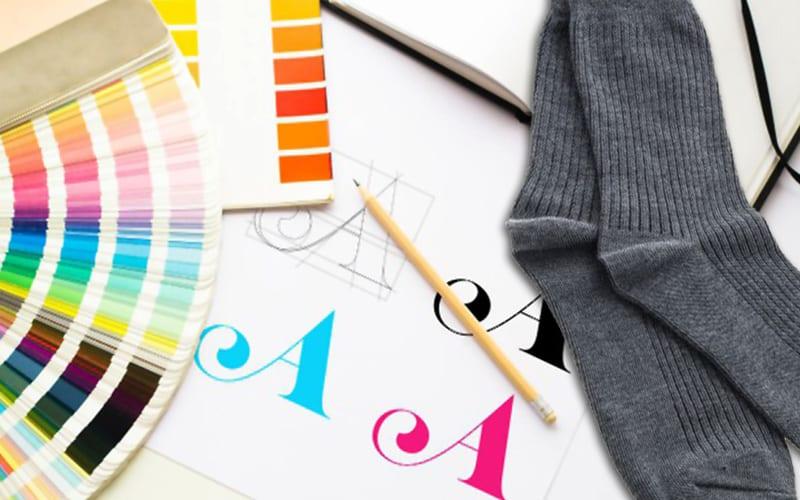 how to create custom logo socks 2