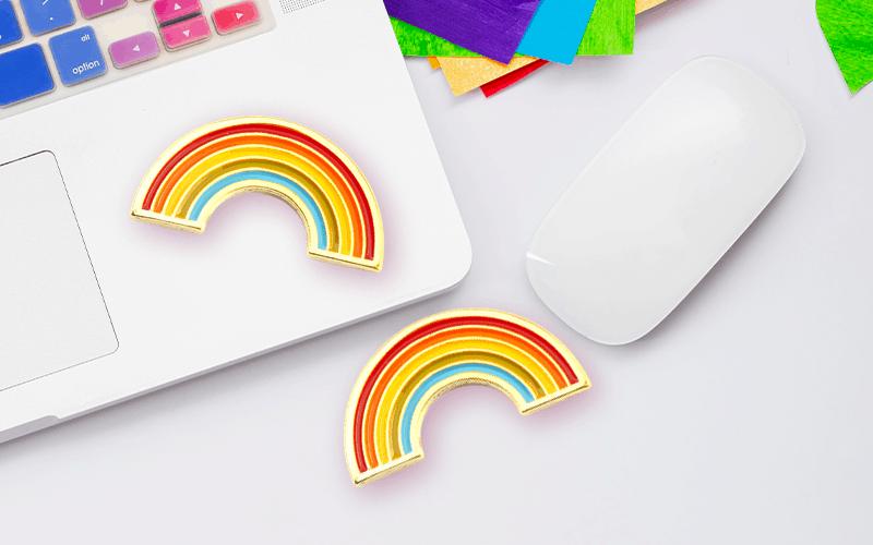 pride rainbow custom pin