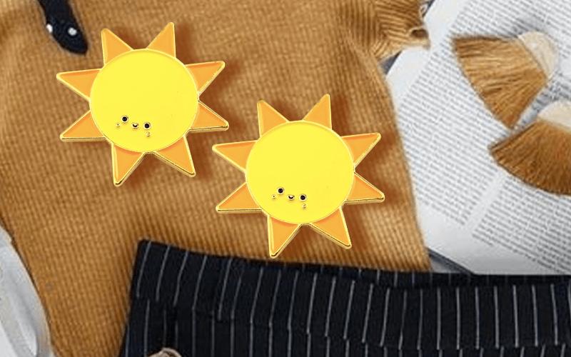 custom pin sun cute summer