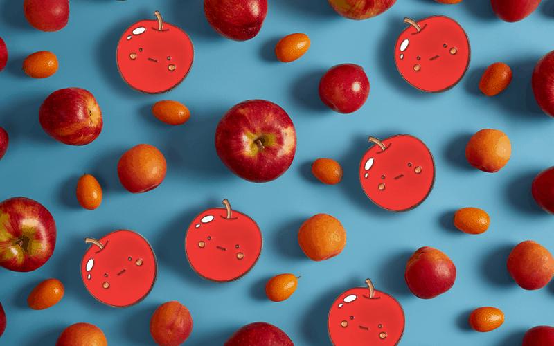 food theme custom pin apple