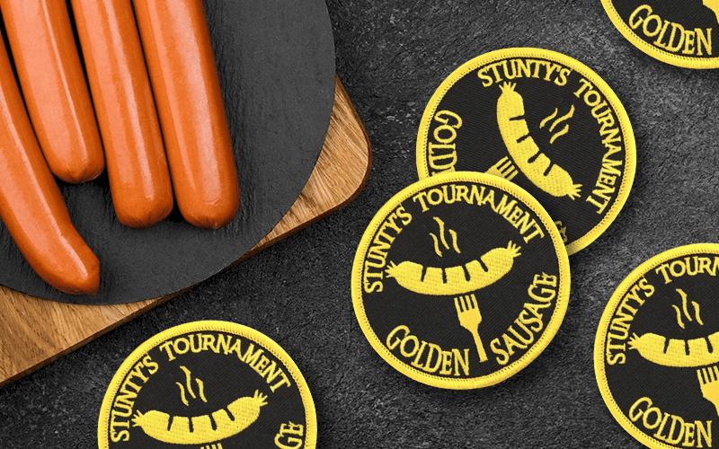 food theme custom patch sausage tournament