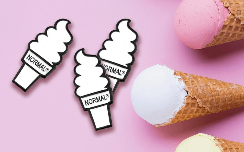 food theme custom pin normal ice cream