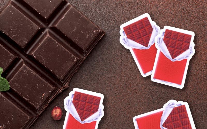 food theme custom patch open chocolate bar