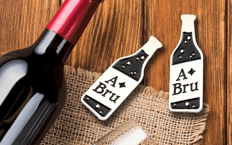food theme custom pin a bru bottle
