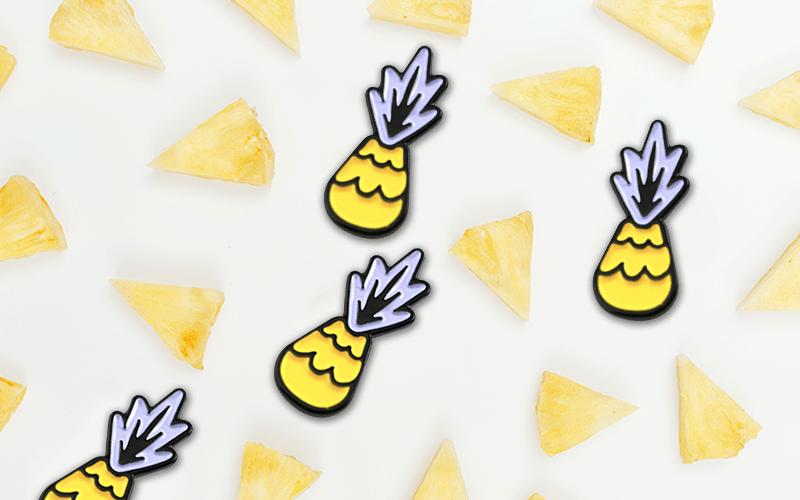 food theme custom pin pineapple