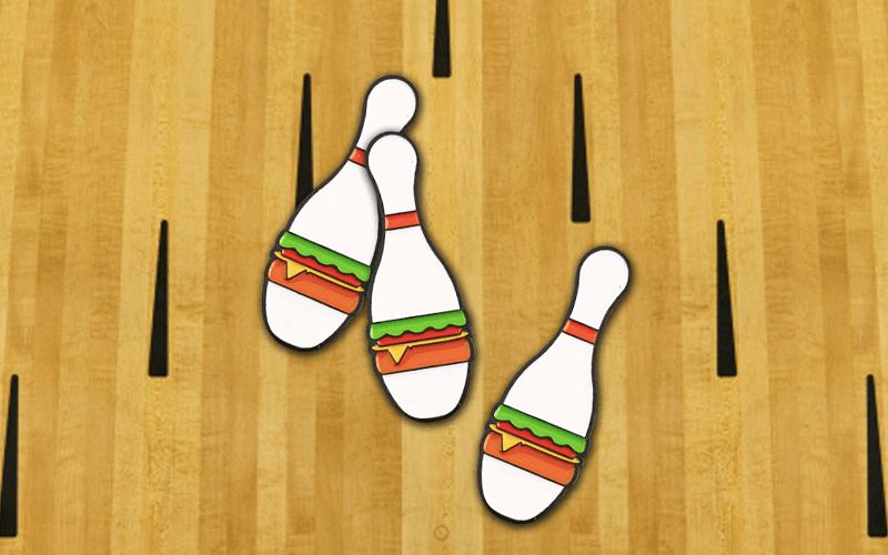 food theme custom pin bowling pin burger