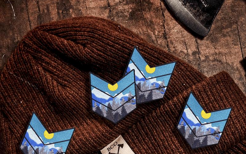 summer custom products custom patch mountain range