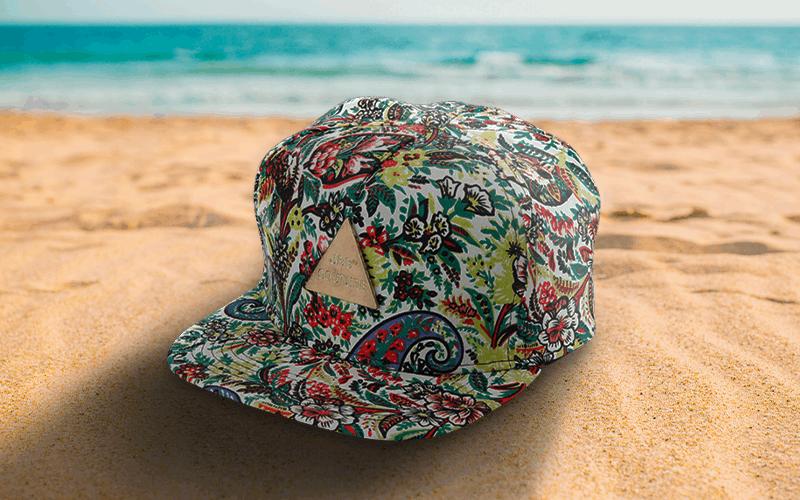 summer custom products custom hat printed 5 panel hat