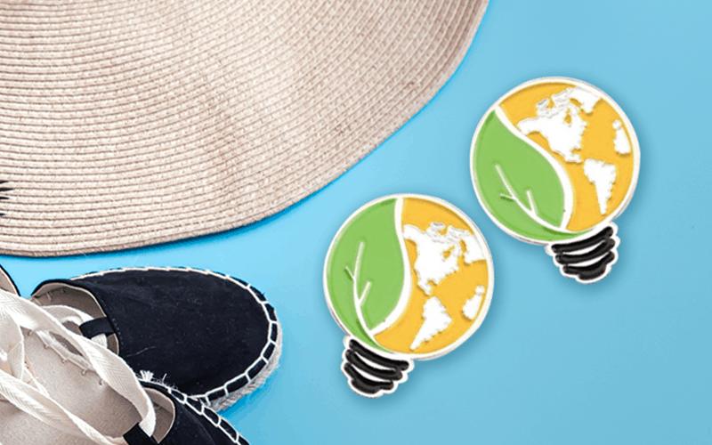 summer custom products custom pin earth lightbulb