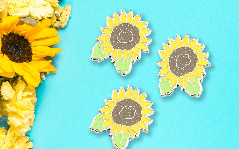summer custom products custom pin sunflower