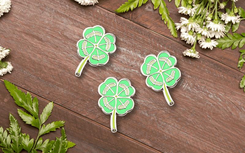 summer custom products custom pin four leaf clover