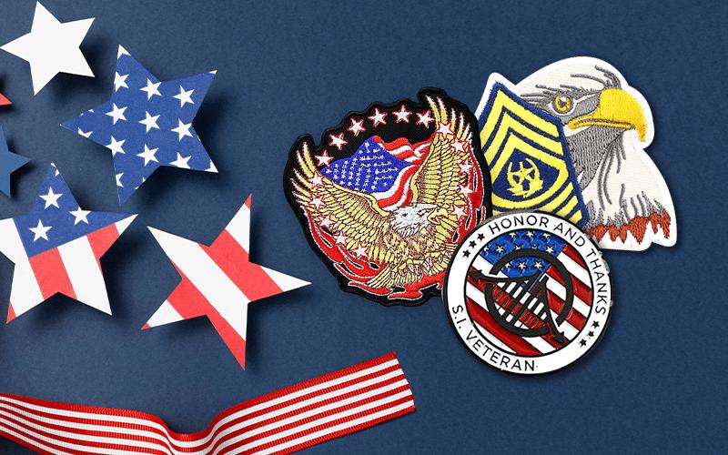 veterans day custom pins online